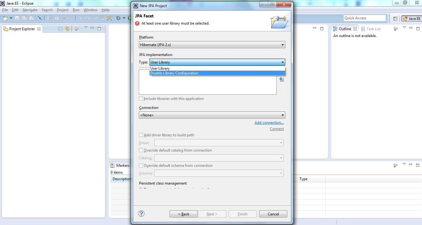 JPA Project & Data Connection for MySQL Step 6