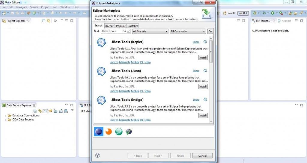 JBoss Tools Setup Step 2