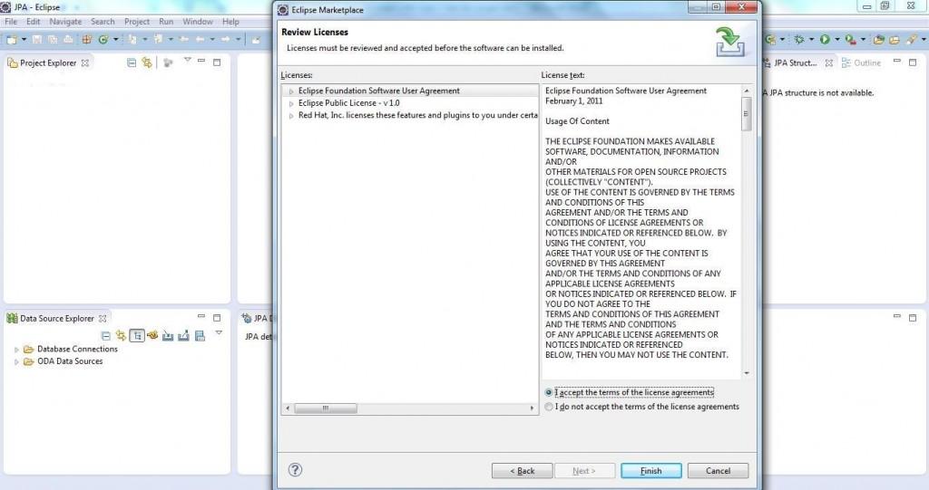 JBoss Tools Setup Step 4