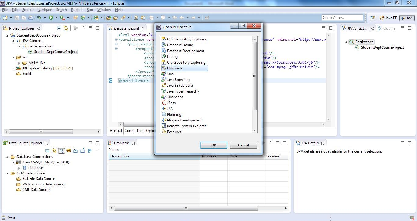 Reverse Code Generation of Hibernate/JPA POJO Entities Step 03