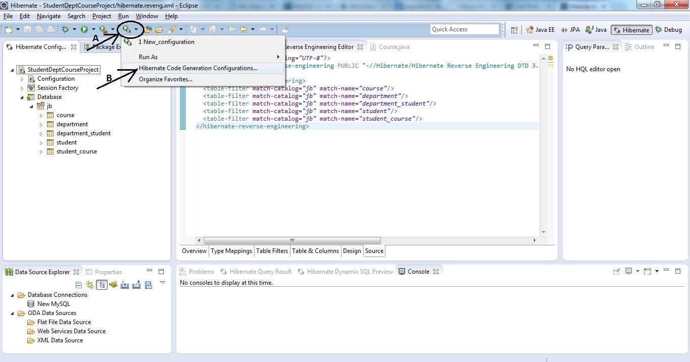 Reverse Code Generation of Hibernate/JPA POJO Entities Step 04 a