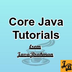 Core Java Tutorials