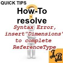 How to Resolve - Syntax error, insert
