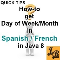 Java 8 - How to get Day of Week, Month in Spanish, French