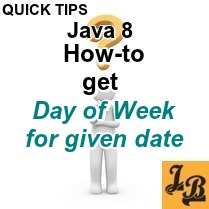 Java 8 - How to get day of week for a given date using java time