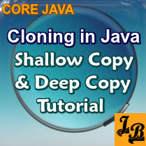 Cloning in Java | Shallow Copy and Deep Copy tutorial with examples