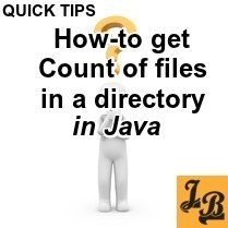 How to count number of files in a directory in Java | File